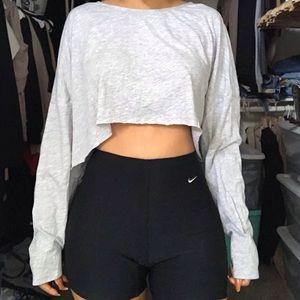 Gray crop long sleeve